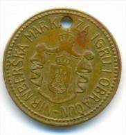 RRR , YUGOSLAVIA , ALEKSANDAR , NIRNBERSKA MARKA , TOKEN , JETON - Royal / Of Nobility