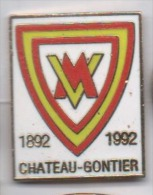 Beau Pin´s En EGF , Ville De Château Gontier , 1892 - 1992  , Mayenne - Cities