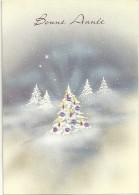 Bonne Année. Sapin Décoré Dans La Neige, étoiles. - Anno Nuovo