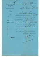 COMPAGNIE CHEMIN  DE FER  DE L'EST   GERARMERD   1882 - Transports