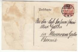 POLAND / GERMAN ANNEXATION 1918  POSTCARD  SENT FROM  POZNAN TO MUROWANA GOSLINA - Covers & Documents