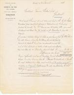 COMPAGNIE CHEMINS  DE FER  DES VOSGES   EPINAL 1882 - Transports