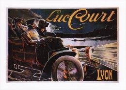 Postcard Advert French Luc Court Car Lyon France Advertisement Automobile - Publicité