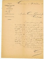 COMPAGNIE CHEMINS  DE FER  DE L'EST  GERARMERD   1882 - Non Classés