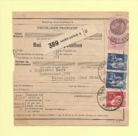 Bulletin D´expedition - Type Paix - Saint Louis A - 13 Mai 1937 - 1932-39 Peace