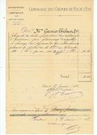COMPAGNIE CHEMINS  DE FER  DE L'EST  GERARMERD   1882 - Transports