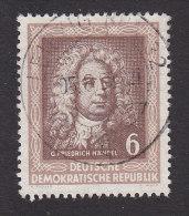 German Democratic Republic, Scott #100, Used, Handel, Issued 1952 - [6] Democratic Republic