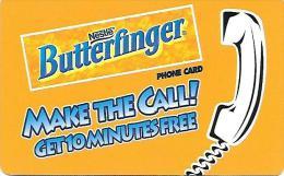 Prepaid: Phonecard Communications Design Group - Nestlé Butterfinger - Vereinigte Staaten