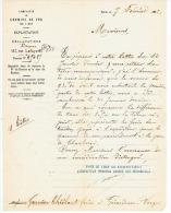COMPAGNIE CHEMINS  DE FER  DE L'EST  PARIS  1882 - Transports