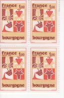 1975 - Bourgogne - Bloc De 4 Timbres N° 1848 - Neufs