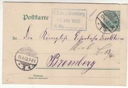 POLAND / GERMAN ANNEXATION 1902  POSTCARD  SENT FROM  GNIEZNO TO BYDGOSZCZ - ....-1919 Übergangsregierung
