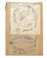 Cachet Hopital Croix Rouge Tricotel Et Cachet Depot Tonnerre - Vieux Papiers