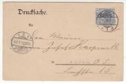 POLAND / GERMAN ANNEXATION 1903  POSTCARD  SENT FROM  POZNAN TO POZNAN - ....-1919 Übergangsregierung