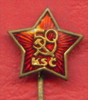 F2202 / 50 YEAR Communist Party Of Czechoslovakia RED STAR - Badge Pin - Czechoslovakia Tchecoslovaquie Tschechoslowakei - Altri