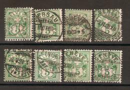 SUISSE 1882 YT 66 Lot De 8 Exemplaires DECENTRES - Oblitérés