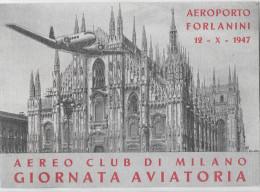 AVIAZIONE GIORNATA AVIATORIA AEREOPORTO FORLANINI - 1946-....: Moderne