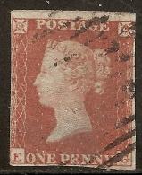 Grande-Bretagne (GB) Victoria 1841 - Penny Rouge Planche 157 EG - Oblitérés