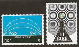 IRELAND 1976 - 50yrs RADIO In EIRE - 2v Mi 351-352 MNH ** Cv€2,00 H185 - Neufs