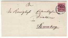 POLAND / GERMAN ANNEXATION 1898  LETTER  SENT FROM  POZNAN TO BYDGOSZCZ - ....-1919 Übergangsregierung