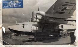 AVIATION - PHOTO VERITABLE  -  AVION  ALLEMAND ?  -   6 Moteurs à Hélice.   Photo Trés Abimée - Aviation