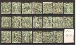 SUISSE 1882  Lot De 20 Exemplaires Du N° YT66 Oblitérés  [LOT B ] - Oblitérés