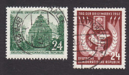 German Democratic Republic, Scott #111-112, Used, Halle University, Stamp Day 1952, Issued 1952 - [6] Democratic Republic