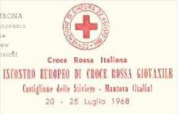 RENCONTRE EUROPEENNE DE LA CROIX ROUGE DE LA JEUNESSE 1968 Verona Panorama - Croix-Rouge
