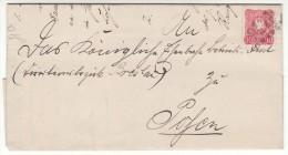 POLAND / GERMAN ANNEXATION 1886  LETTER  SENT FROM  GNIEZNO TO POZNAN - ....-1919 Übergangsregierung
