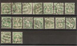 SUISSE 1882  Lot De 16  Exemplaires Du N° YT 66 Oblitérés  [LOT C ] - 1882-1906 Armoiries, Helvetia Debout & UPU