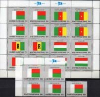 Flagge Madagaskar 1980 UNO New York 360,4-Block+Kleinbogen ** 5€ Bloque Hojita United Nation Flag Sheetlet Bf MADAGASCAR - Covers