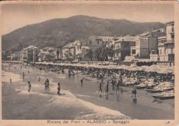 ALASSIO -RIVIERA DEI FIORI-SPIAGGIA VIAGGIATA 1953 X MILANO - Savona