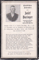 Sterbebild Josef Daringer, Kirchheim - K.k. Landw.-Inf.-Reg. Nr. 2 - Gefallen Vinkovac (Slawonien) Am 18.12.1914 (2739) - Documents