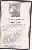 Sterbebild Johann Zach, K.u.k. Inf.-Reg. Nr. 59 - Gefallen 1916 An Der Italien. Front (2740) - Dokumente