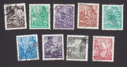 German Democratic Republic, Scott #155-160, 162-163A, Used, Workers And Scenes Of DDR, Issued 1953 - [6] Democratic Republic