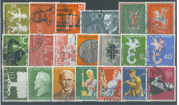 VEND BEAUX TIMBRES DE RFA , ANNEE COMPLETE 1958 !!!! - Used Stamps