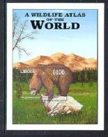 MINT NEVER HINGED SOUVENIR SHEET OF ANIMALS   ( LIBERIA  2184  0346