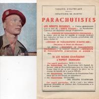 PROSPECTUS - TROUPES D' OUTRE- MER - INFANTERIE DE MARINE - PARACHUTISTES + 1 PHOTO - Non Classés