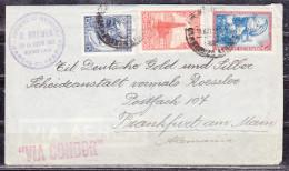 Luftpost, Patentes G. Breuer, MiF, Buenos Aires Mit Condor Nach Frankfurt, AK-Stempel Auslandstelle 1938 (51309) - Argentinien