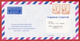Luftpost, Drucksache, Kongress Verbrennungskrankheiten, MeF Skispringer, Buenos Aires Nach Wipperfuerth 1974 (51310) - Storia Postale