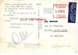 EMA - LYON TERREAUX  - 24 V 76 - BAUMANN AINE Et Cie  Tissus Croix Paquet Cravates - Marcophilie (Lettres)