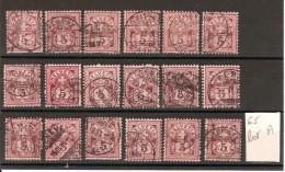 SUISSE 1882  Lot De 18  Exemplaires Du N° YT 65 Oblitérés  [LOT A ] - Oblitérés