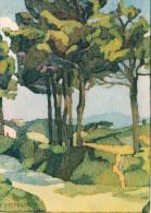 """LE PAYS BASQUE - Collection """"ROCHE"""" - BIDART : Les Pins - Illustrateur Jeanne VIPELLE -  Non Circulée - Francia"""