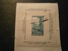 USA / United States Block 7 Gestempelt Auf Briefausschnitt Aus Dem Jahr 1937 - Etats-Unis