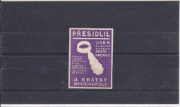Reklamemarke - Presidilil - J. Kratky, Smichov (136) - Vignetten (Erinnophilie)