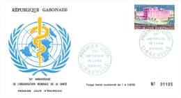 GABON  1968  20è Ann. Organisation Mondiale De La Santé  FDC - Gabon (1960-...)