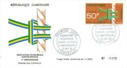 GABON  1968  Europafrique  FDC  Poste Aérienne - Gabon (1960-...)