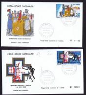 GABON  1968  Croix Rouge Gabonnaise FDC Poste Aérienne - Gabon (1960-...)