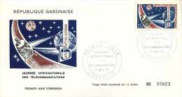 GABON  1970  Journée Internayionale Des Téélécommunications  FDC - Gabon