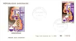 GABON  1970   Europafrique  FDC  Poste Aérienne - Gabon (1960-...)
