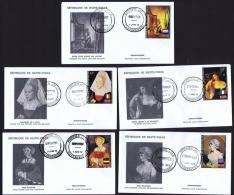 HAUTE VOLTA  1973 Europafrique  Portraits De Femmes:  Van Delft, Hopner, Titien, Van Der Weyden, Holbein  FDC - Obervolta (1958-1984)